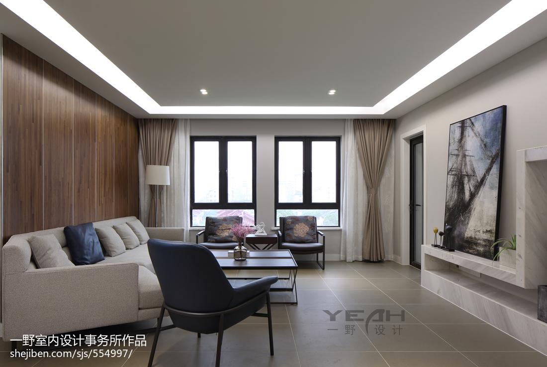 热门94平米三居客厅现代欣赏图