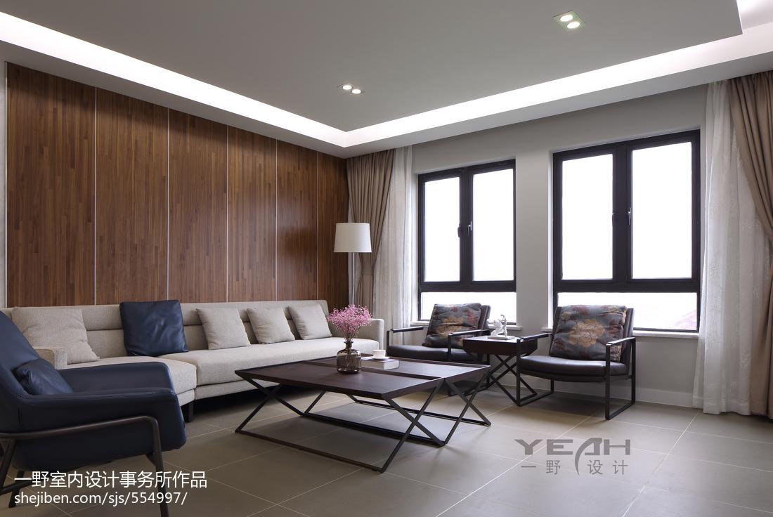 热门面积105平现代三居客厅装修欣赏图片大全