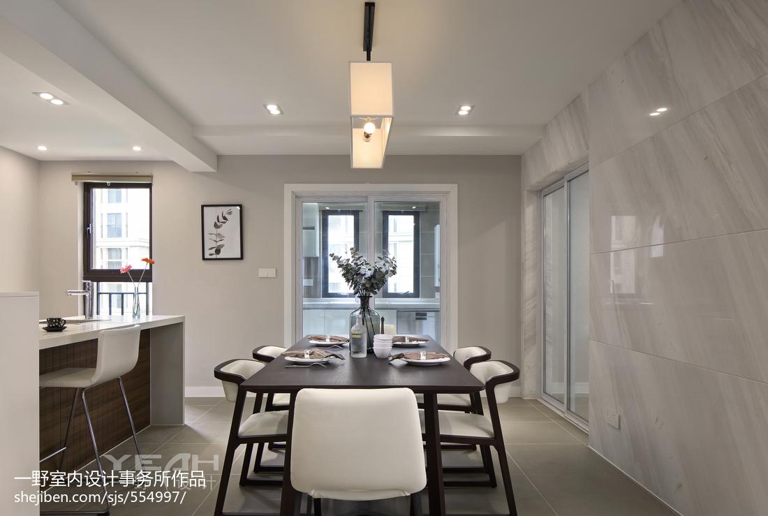 2018大小109平现代三居餐厅效果图片大全