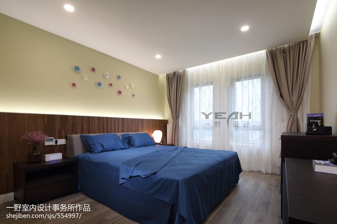 热门大小93平现代三居卧室效果图片欣赏
