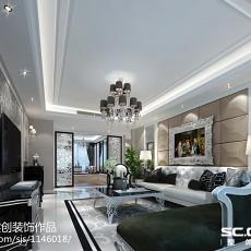精美面积91平新古典三居客厅装修欣赏图片大全