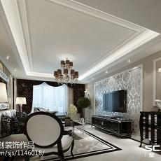 107平米三居客厅新古典装修设计效果图片欣赏