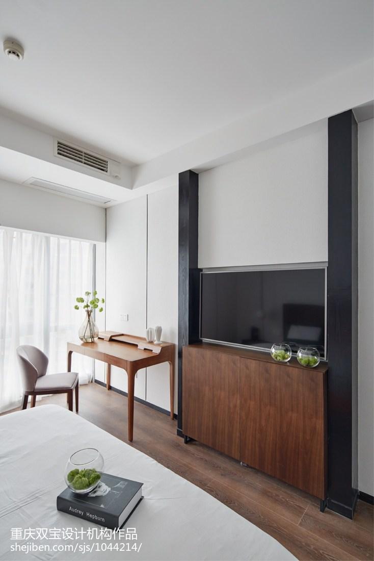 簡約風格臥室電視背景墻設計