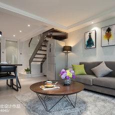 2018精选面积75平现代二居客厅装修欣赏图片