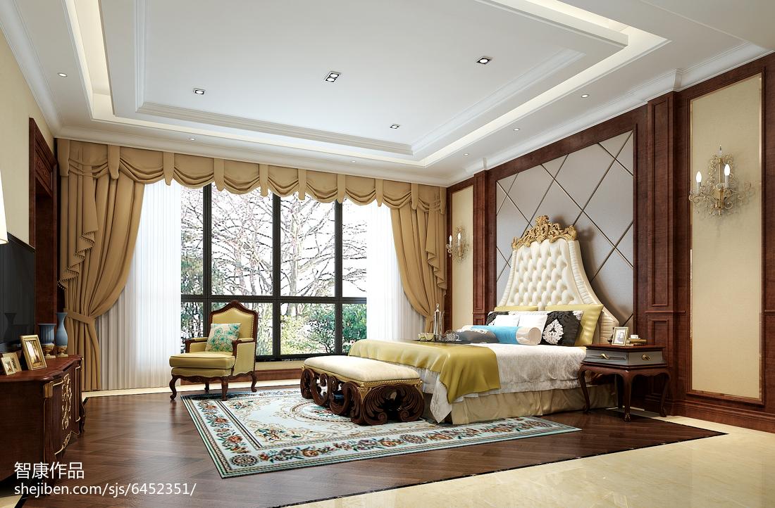 2018129平米中式别墅装修设计效果图片欣赏