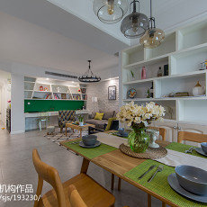 精选面积97平北欧三居餐厅装饰图片欣赏