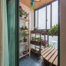 2018精选107平米三居阳台北欧装饰图片