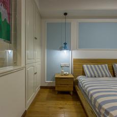 热门103平米三居卧室北欧装修实景图片欣赏