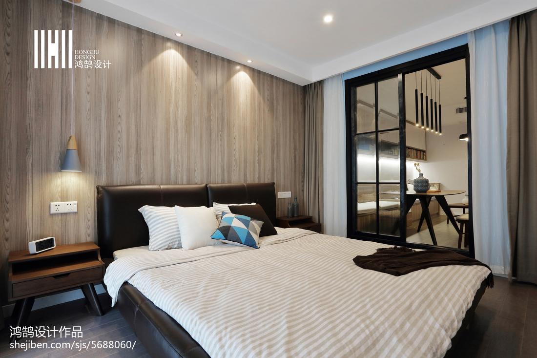 2018精选大小88平现代二居卧室装修设计效果图片