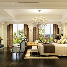 精美104平米三居卧室欧式装修设计效果图