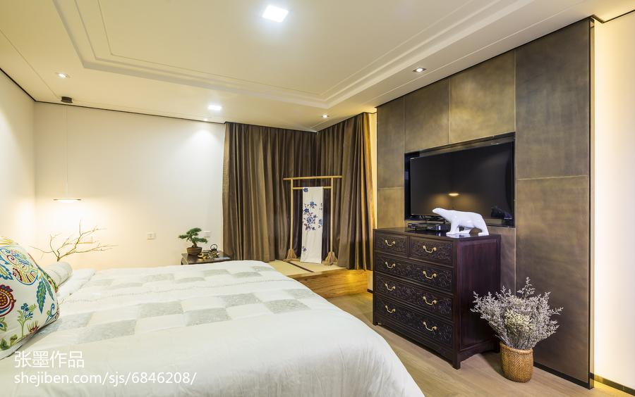 精美面积93平中式三居卧室实景图