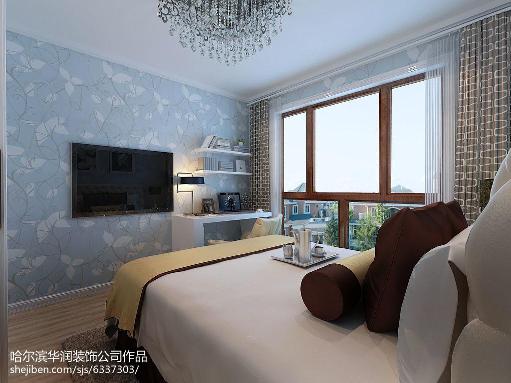 面积76平小户型卧室简约装修欣赏图