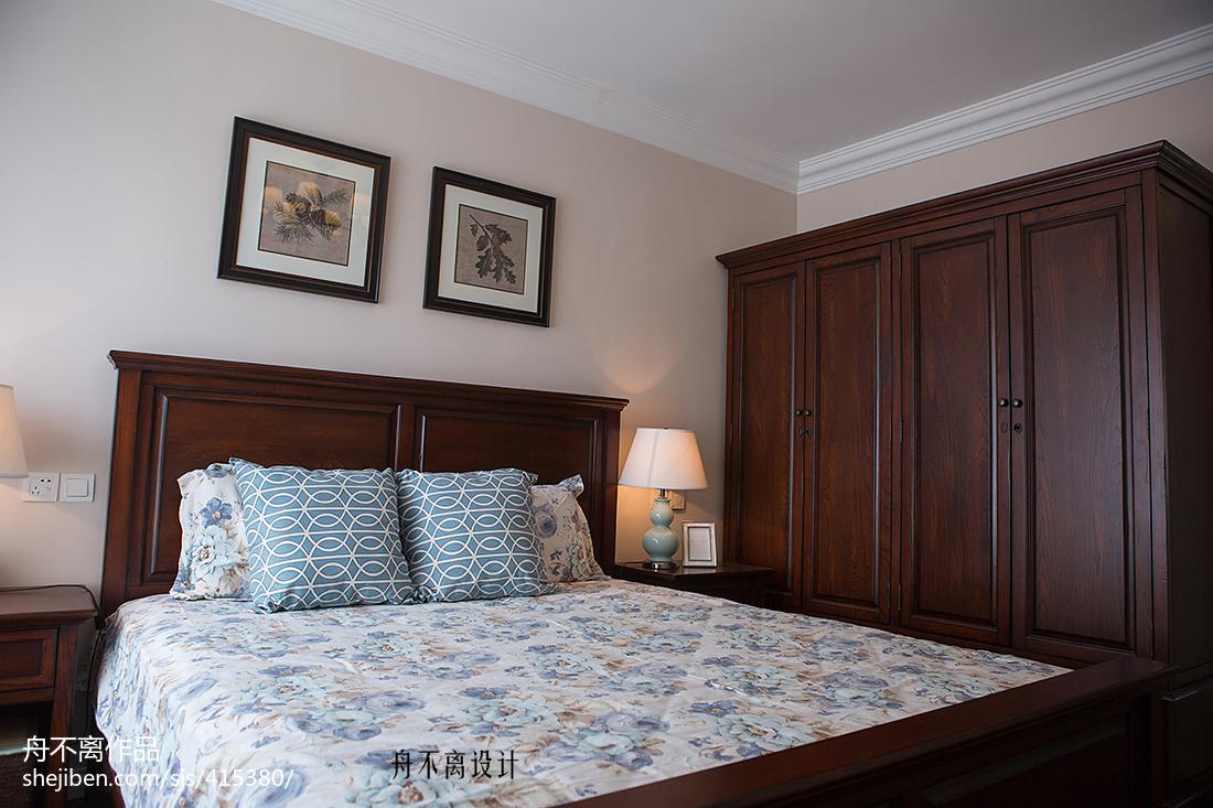 简约美式风格卧室装饰图