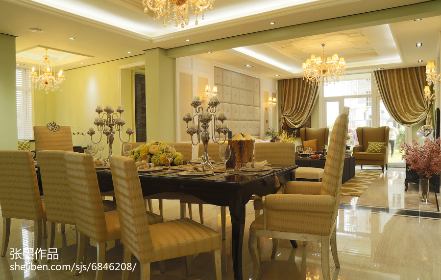 浪漫欧式风格客厅装修
