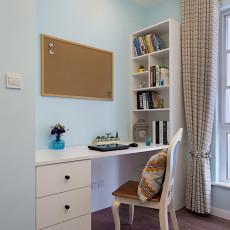 温馨95平美式三居书房实景图片