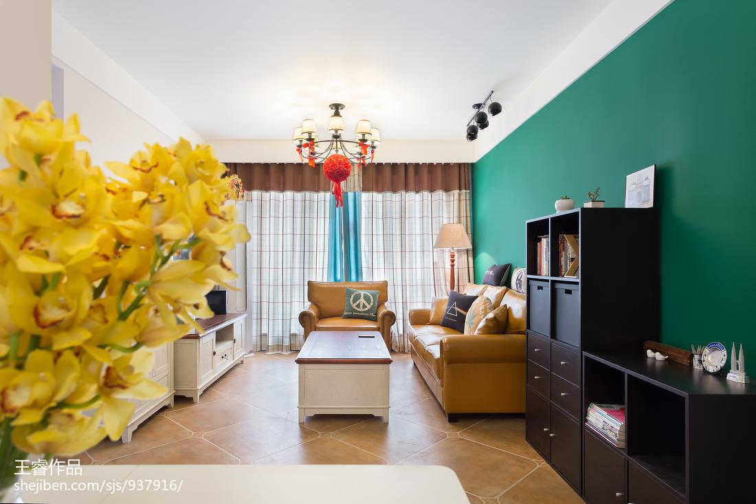 201892平米三居客厅美式装修效果图片大全
