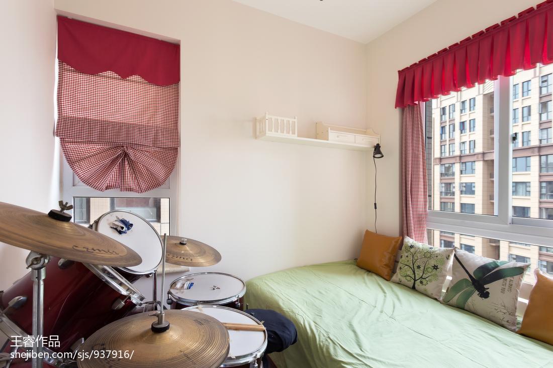 华丽86平美式三居儿童房装修设计图
