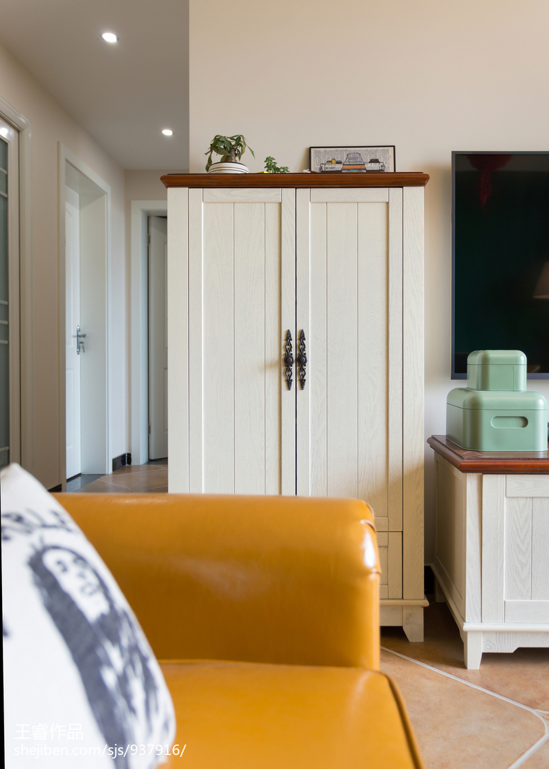 精美大小98平美式三居客厅装修欣赏图片