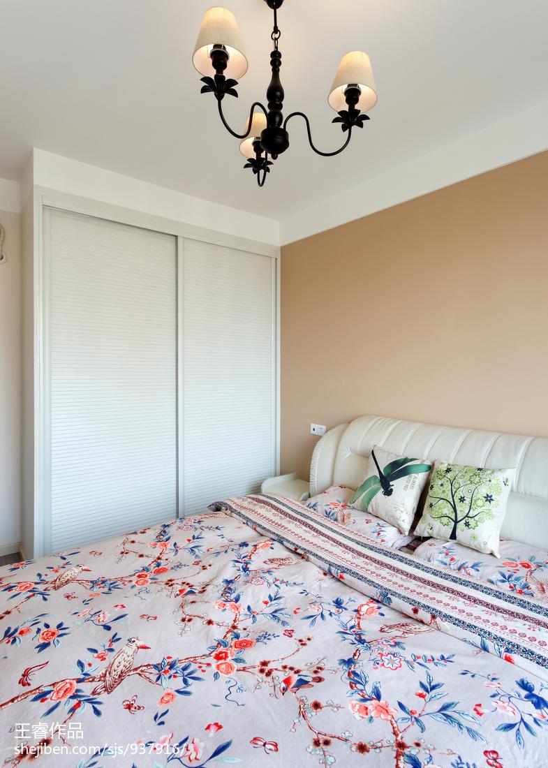 热门101平米三居卧室美式装修效果图片大全