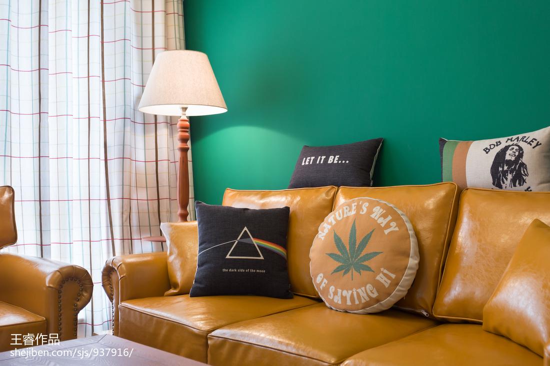 2018104平方三居客厅美式设计效果图
