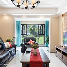 热门99平米三居客厅美式实景图片大全