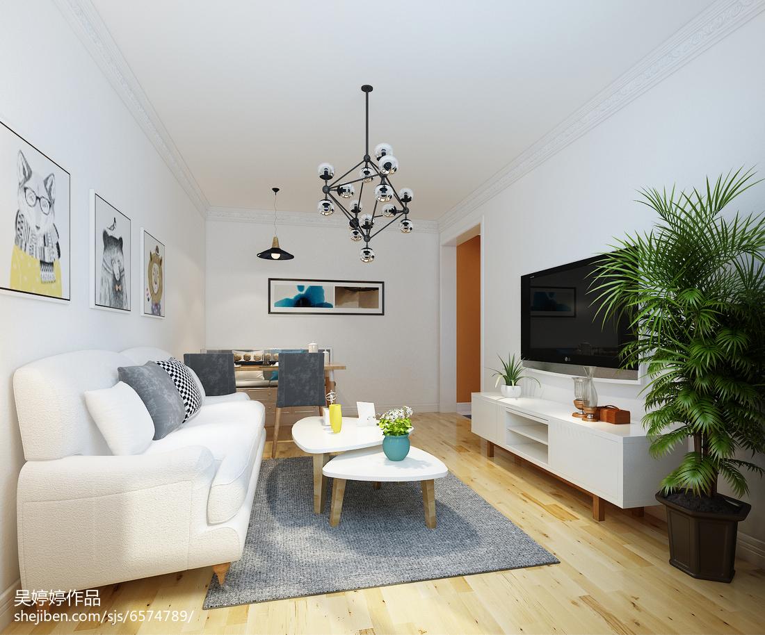 精选87平米二居客厅北欧设计效果图