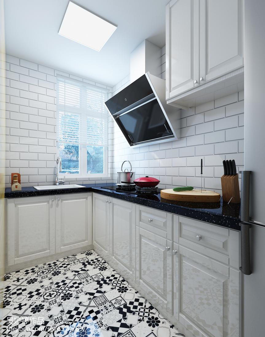典雅85平北欧二居厨房设计效果图