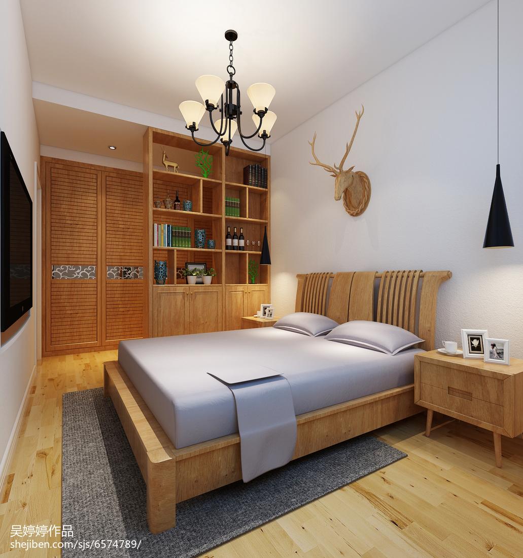 2018面积73平北欧二居卧室装修欣赏图片大全