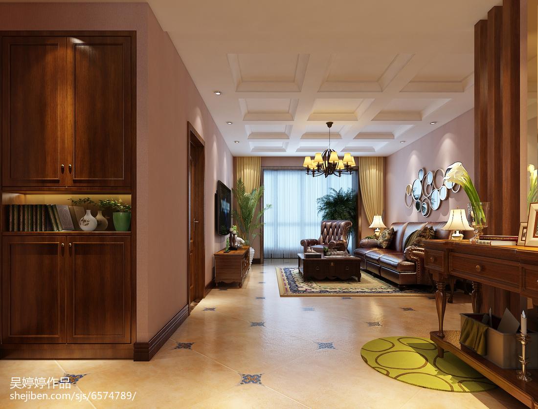 热门105平方三居客厅混搭装修实景图片大全