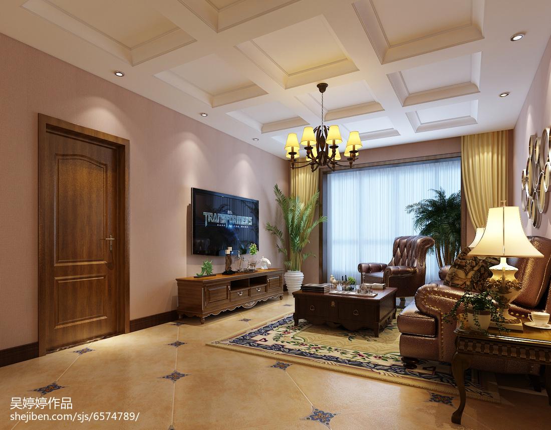 2018精选106平米三居客厅混搭装修效果图片大全