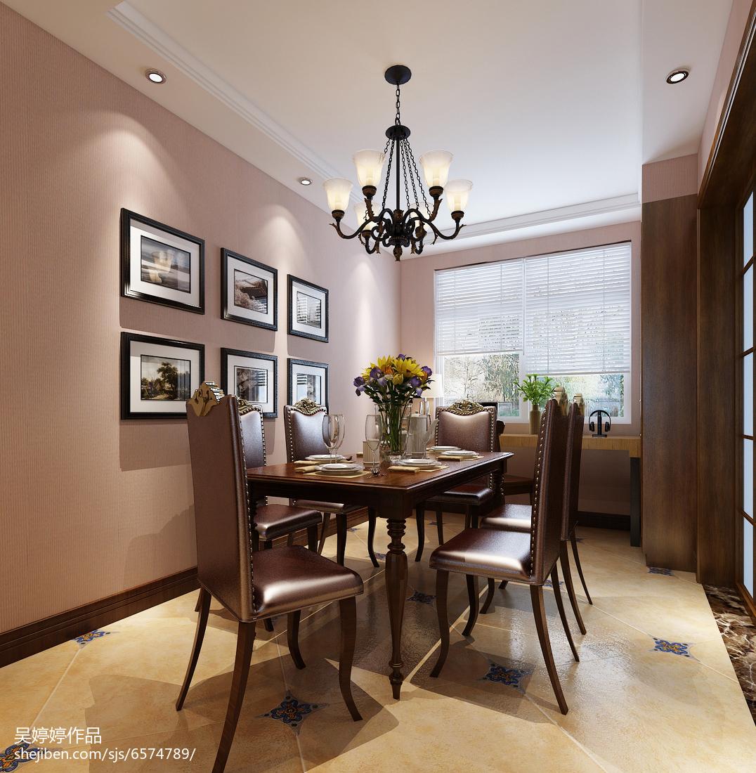 面积108平混搭三居餐厅装修实景图