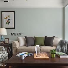 明亮90平美式三居客厅装饰图