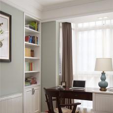 质朴117平美式三居书房实拍图
