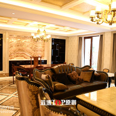 2018精选面积126平别墅客厅欧式装修效果图片