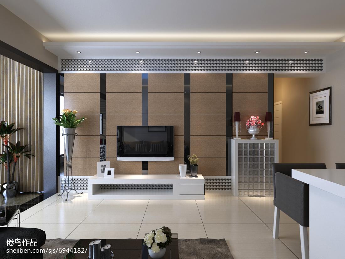 9万打造白色简约风格家居客厅装修效果图大全2014