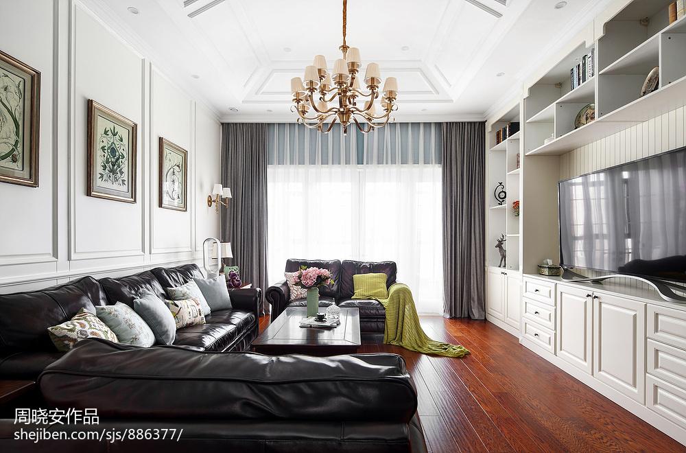 优美250平美式复式客厅图片大全