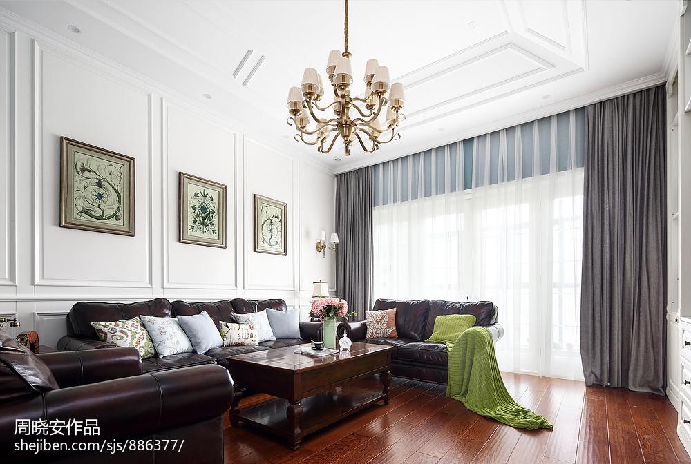 明亮63平美式复式客厅设计效果图