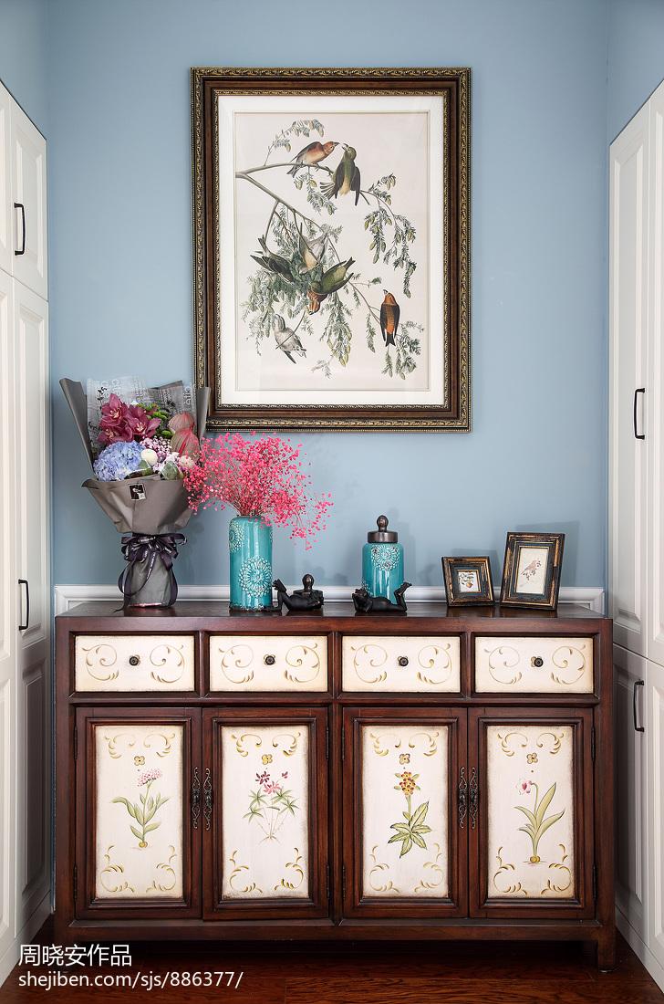 优美57平美式复式玄关装饰美图