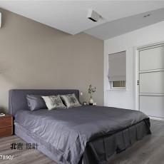 简洁100平现代三居卧室实景图片