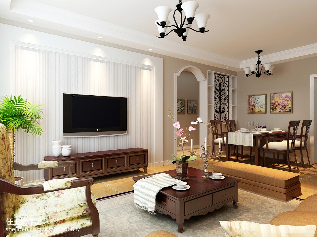 个性现代风格两居室装修案例