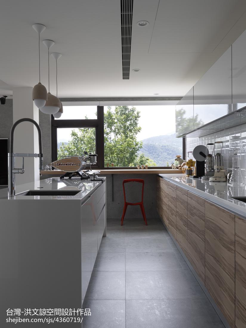 热门复式厨房现代装修设计效果图片大全