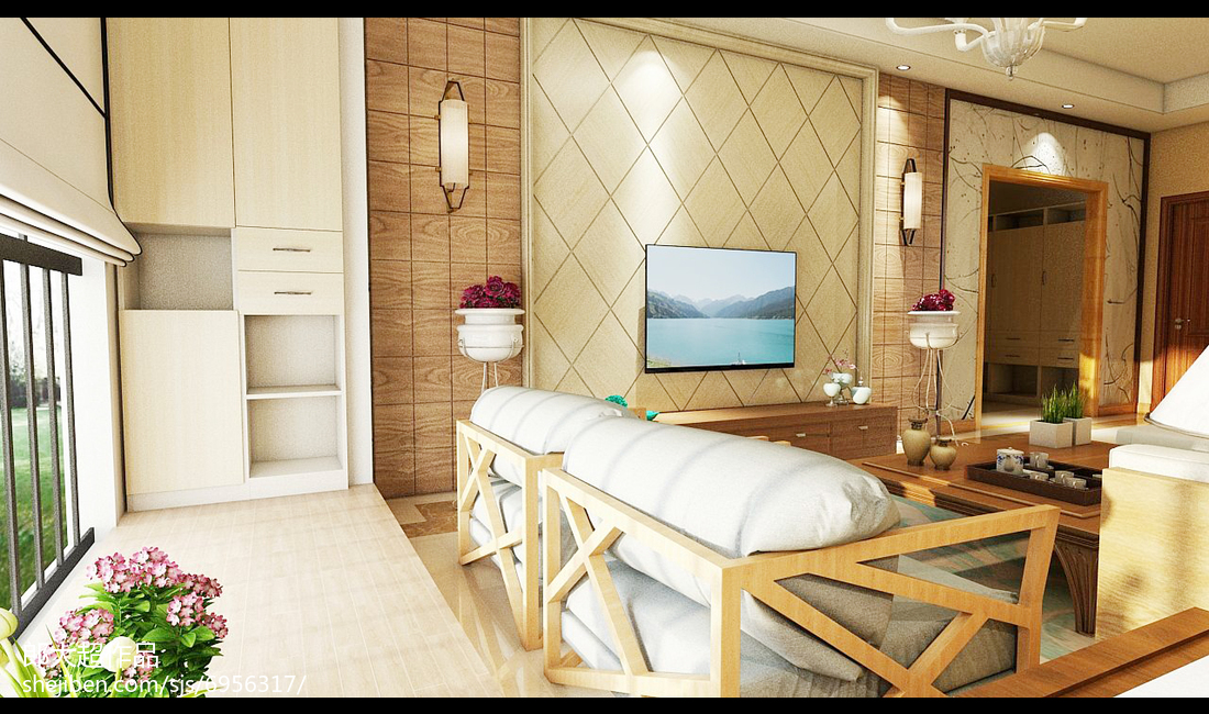 精美日式三居客厅装修图