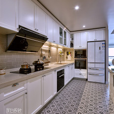 精选美式四居厨房装修效果图