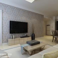 现代风格90平方米两室一厅装修图片大全