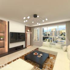 大小94平现代三居客厅效果图