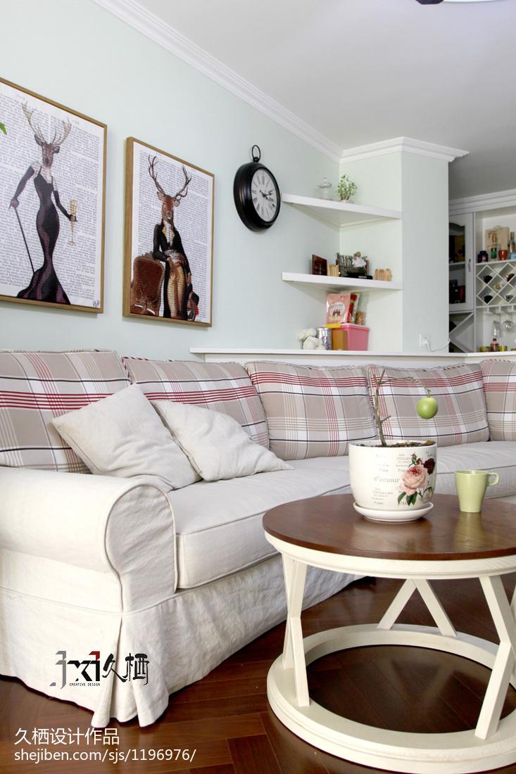 2018精选面积90平美式二居客厅装修效果图