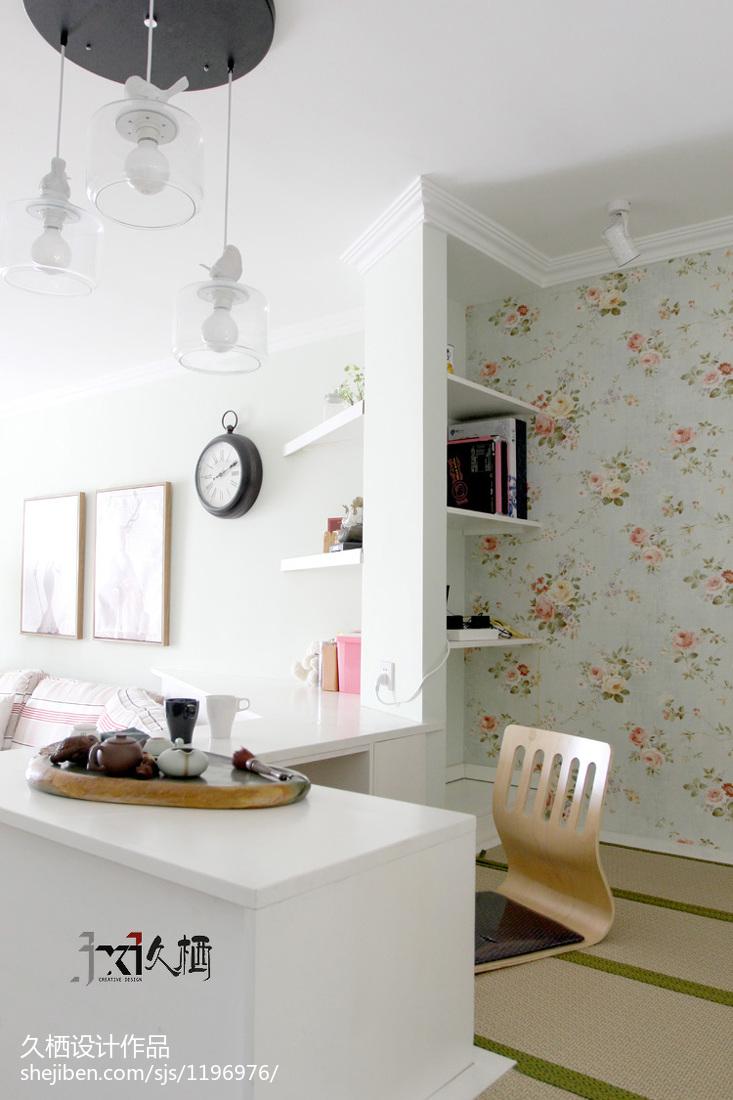 面积83平美式二居书房装修欣赏图片