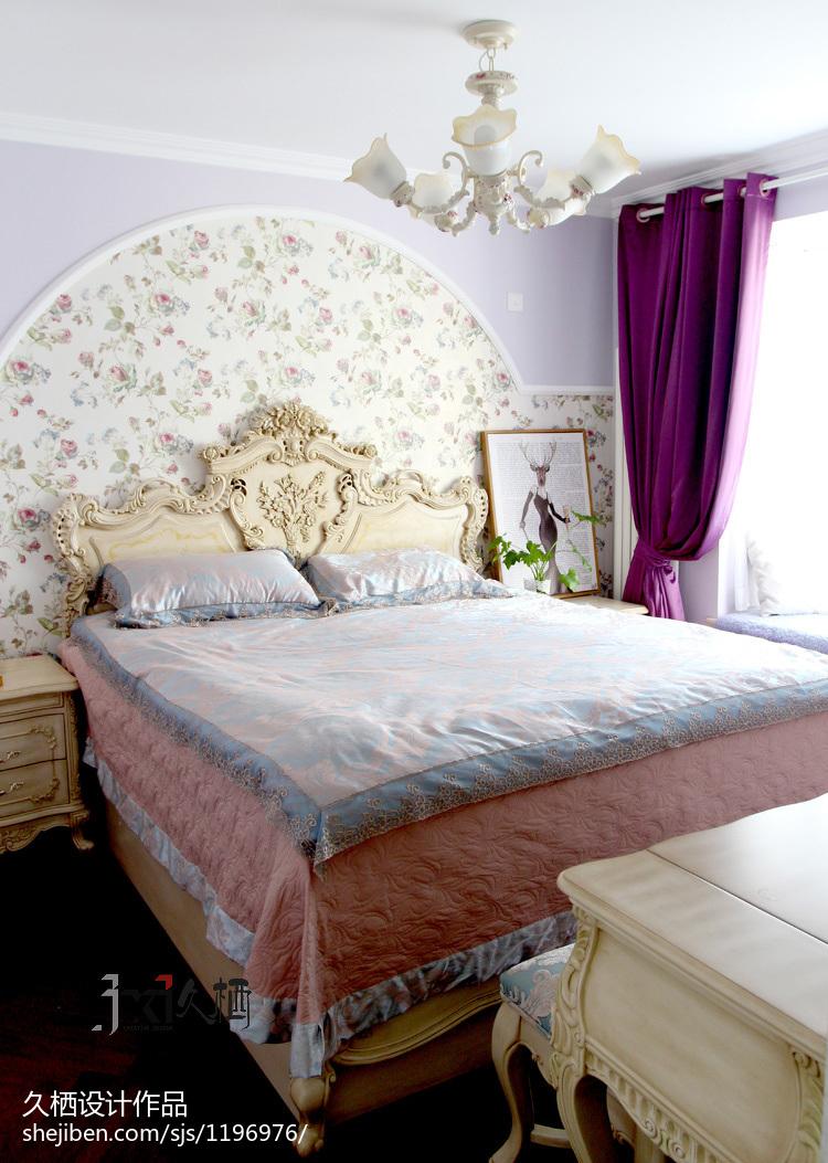 热门82平米二居卧室美式装修实景图片欣赏