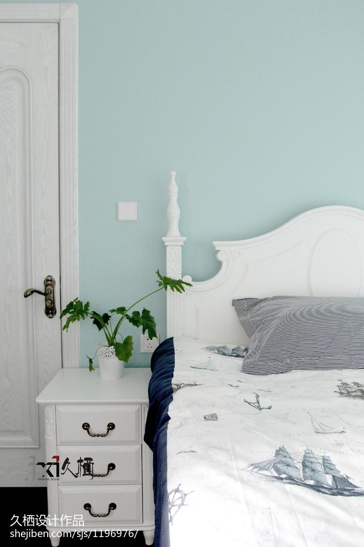 精选面积73平美式二居卧室欣赏图