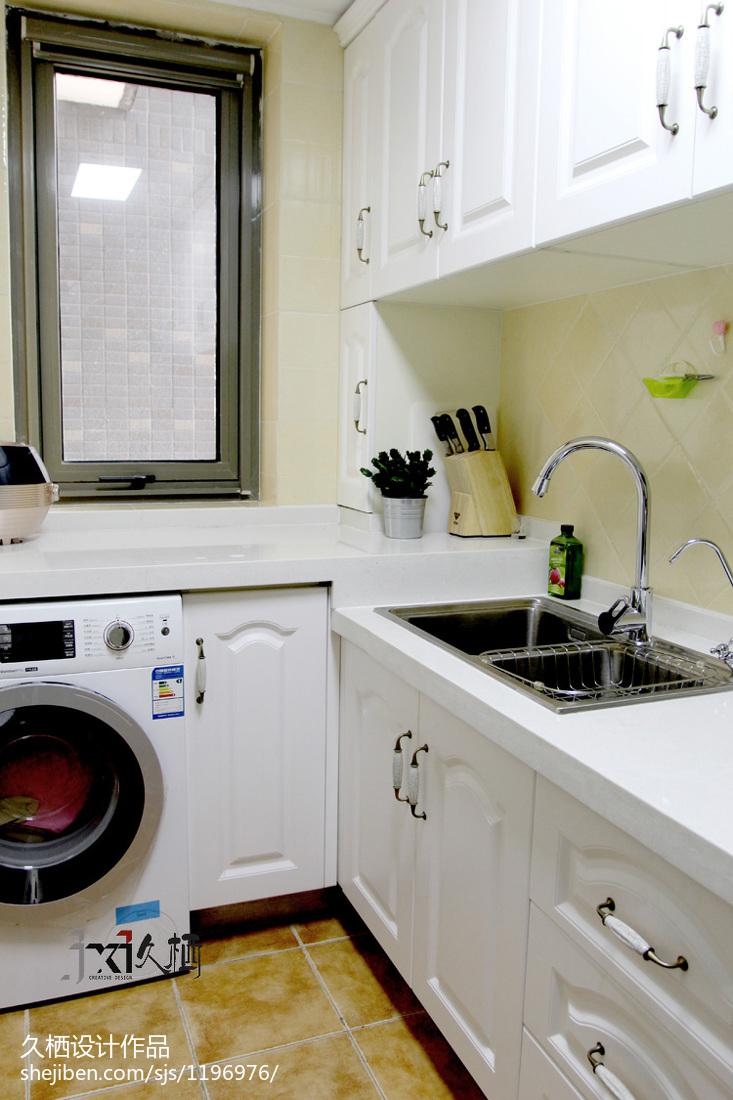 2018面积88平美式二居厨房装修设计效果图片